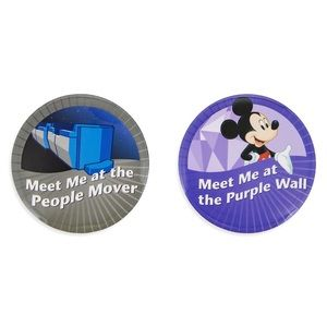 Disney Parks Attractions Tomorrowland Button 2Pack